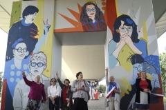 """Gdańsk, Stacja PKM Strzyża, uroczysta prezentacja muralu """"Kobiety Wolności"""" . Na zdjęciu   05.07.2019 fot. Maciej Kosycarz / KFP"""